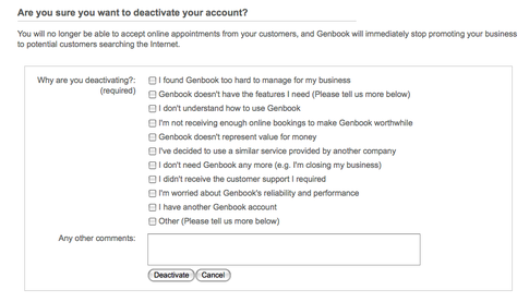 UX Best Practice for Account Cancellation | Facebook Data Capture