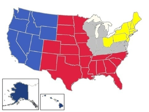 Modern Us Map.Civil War Who Would Come Out On Top If The United States All